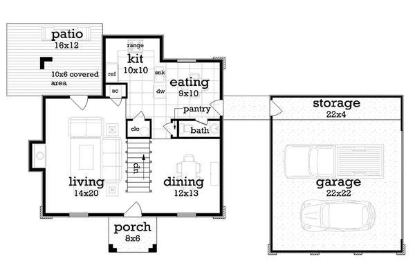 House Plan Design - Traditional Floor Plan - Main Floor Plan #45-577