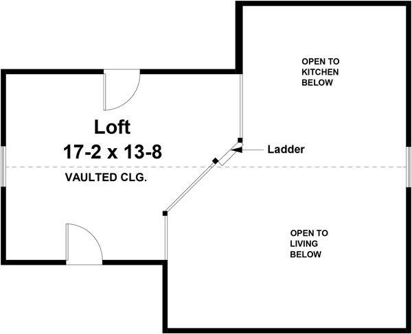Cottage Floor Plan - Upper Floor Plan Plan #21-441