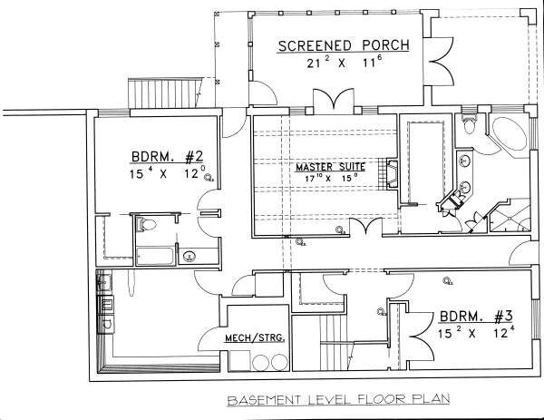 Floor Plan - Lower Floor Plan Plan #117-570