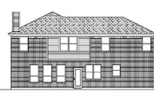 Dream House Plan - Traditional Exterior - Rear Elevation Plan #84-373