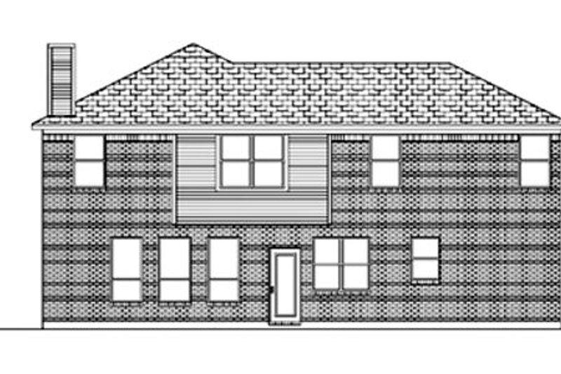 Traditional Exterior - Rear Elevation Plan #84-373 - Houseplans.com