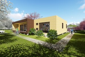 Modern Exterior - Front Elevation Plan #549-3