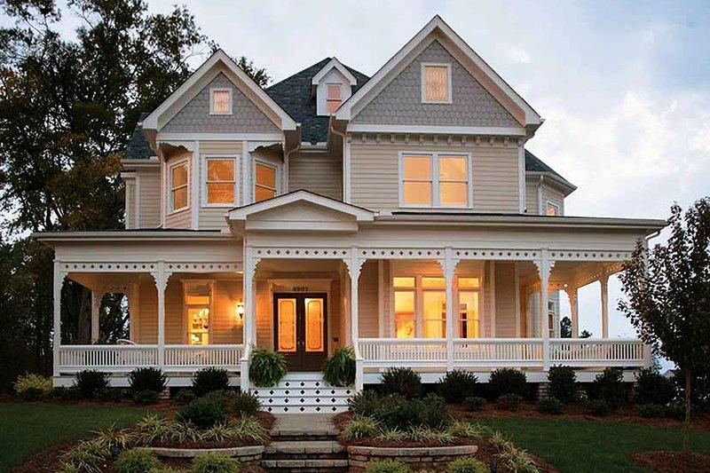 Architectural House Design - Victorian Exterior - Front Elevation Plan #410-104