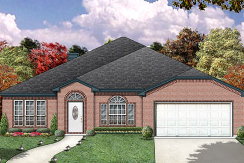 Traditional Exterior - Front Elevation Plan #84-366 - Houseplans.com