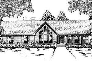Contemporary Exterior - Front Elevation Plan #42-132