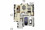 Contemporary Style House Plan - 4 Beds 2.5 Baths 2484 Sq/Ft Plan #25-4914