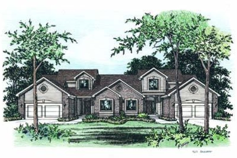 Architectural House Design - Traditional Exterior - Front Elevation Plan #20-1294