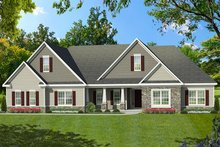 Ranch Exterior - Front Elevation Plan #1010-194