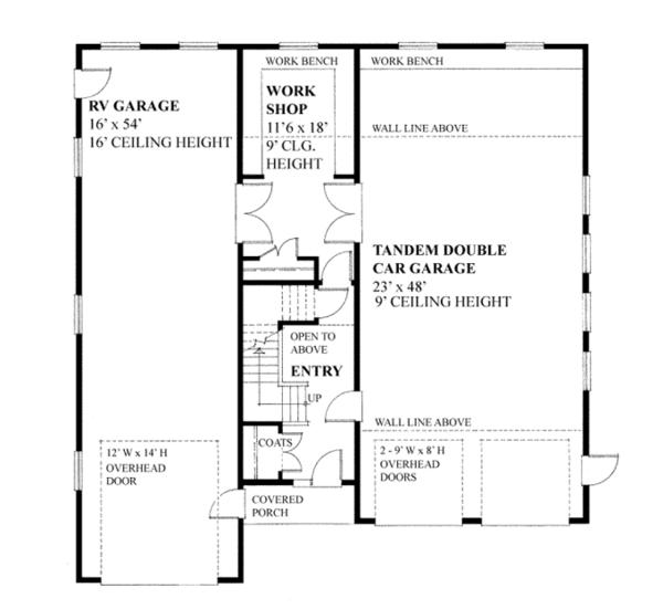 Home Plan - Traditional Floor Plan - Main Floor Plan #118-165