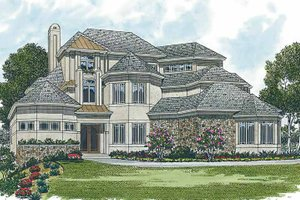 Mediterranean Exterior - Front Elevation Plan #453-201
