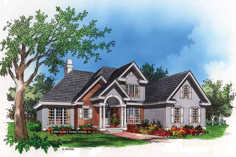 Traditional Exterior - Front Elevation Plan #929-493 - Houseplans.com