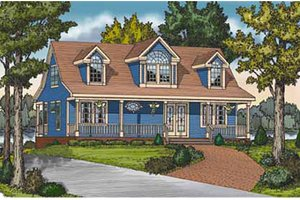 House Plan Design - Country Exterior - Front Elevation Plan #314-273