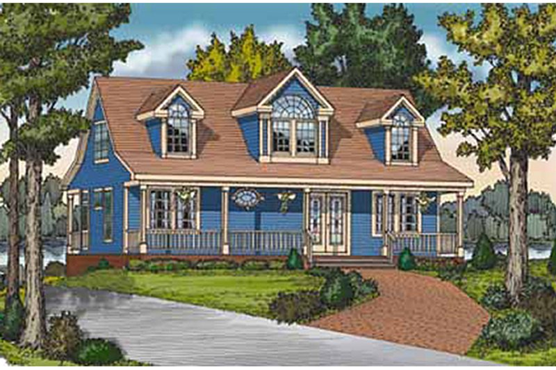Country Exterior - Front Elevation Plan #314-273 - Houseplans.com