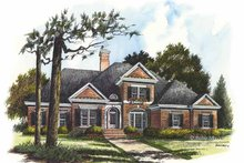 Home Plan - Colonial Exterior - Front Elevation Plan #429-293