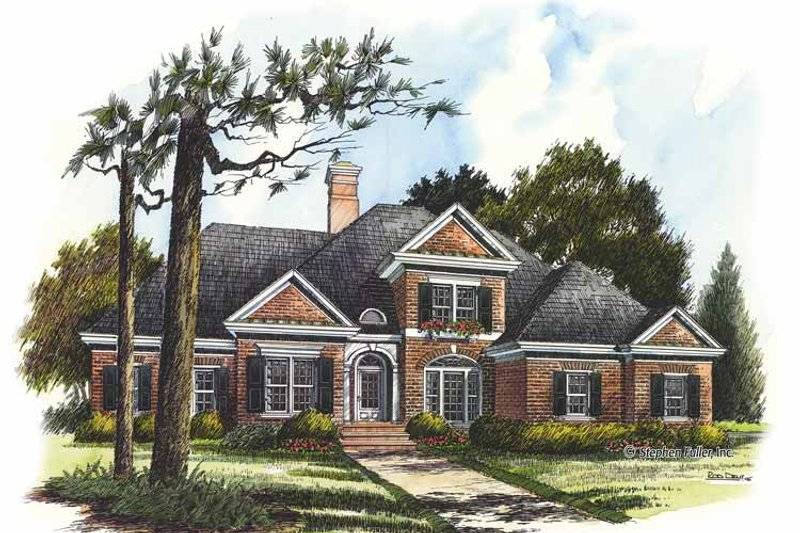 Colonial Exterior - Front Elevation Plan #429-293
