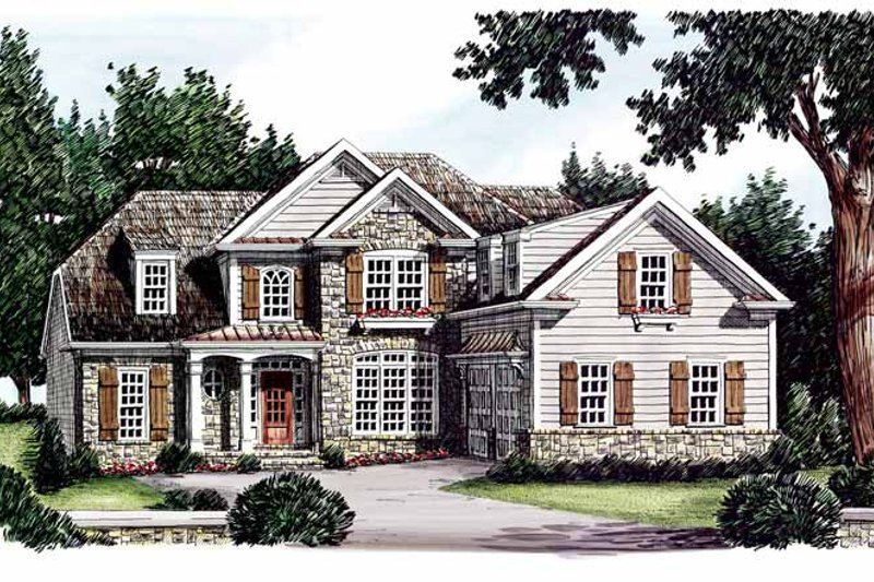 Home Plan - Country Exterior - Front Elevation Plan #927-609