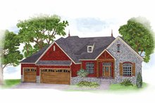 Country Exterior - Front Elevation Plan #950-2