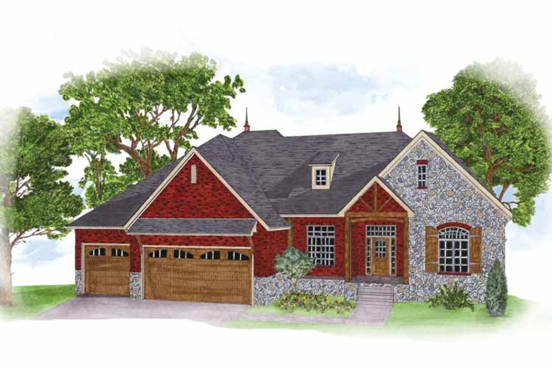 Country Exterior - Front Elevation Plan #950-2 - Houseplans.com