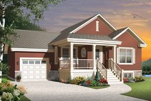 Country Exterior - Front Elevation Plan #23-2566