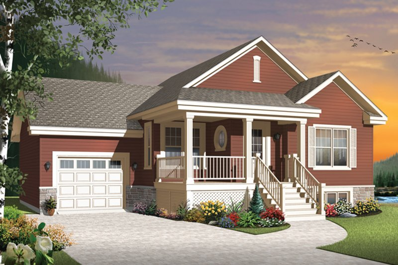 Architectural House Design - Country Exterior - Front Elevation Plan #23-2566