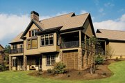 European Style House Plan - 4 Beds 4 Baths 2263 Sq/Ft Plan #929-891 Exterior - Rear Elevation