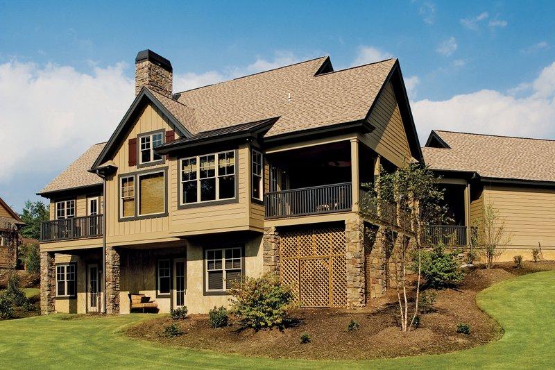 European Style House Plan - 4 Beds 4 Baths 2263 Sq/Ft Plan #929-891 Exterior - Rear Elevation