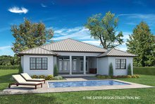 Ranch Exterior - Rear Elevation Plan #930-465