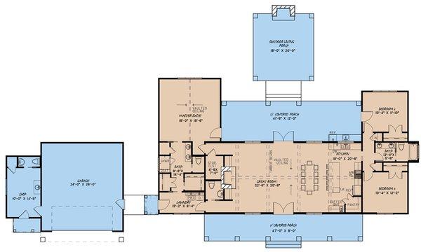 Home Plan - Craftsman Floor Plan - Main Floor Plan #923-142
