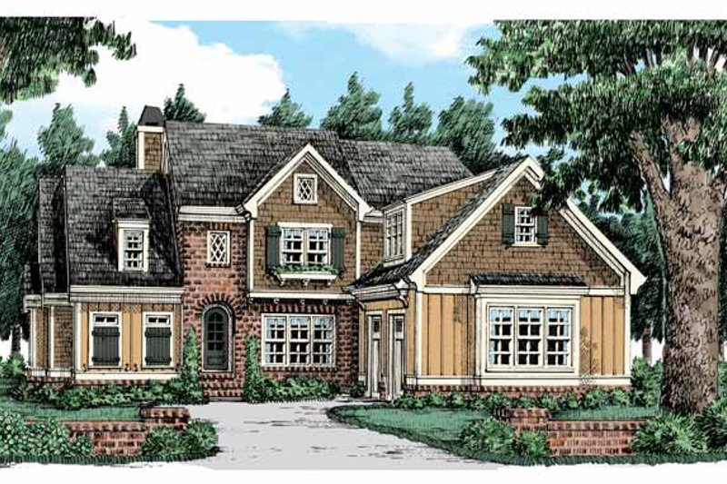 Colonial Exterior - Front Elevation Plan #927-441