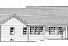 Home Plan - Ranch Exterior - Rear Elevation Plan #316-284