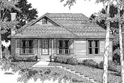 Traditional Style House Plan - 3 Beds 2 Baths 1496 Sq/Ft Plan #41-113 Exterior - Front Elevation
