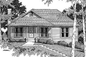 Home Plan - Traditional Exterior - Front Elevation Plan #41-113