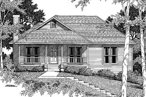 Traditional Exterior - Front Elevation Plan #41-113