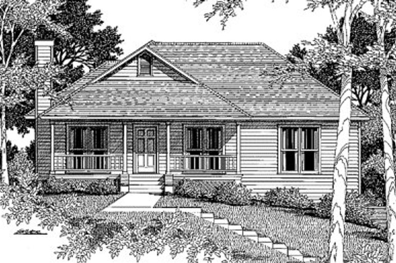 Architectural House Design - Traditional Exterior - Front Elevation Plan #41-113