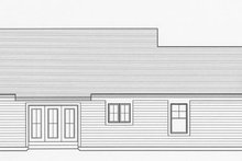 Craftsman Exterior - Rear Elevation Plan #46-840
