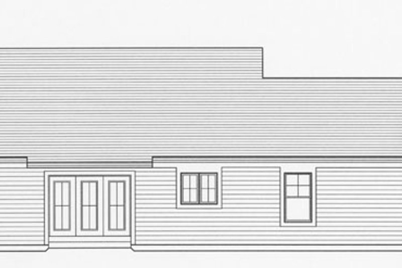 Craftsman Exterior - Rear Elevation Plan #46-840 - Houseplans.com