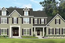 Dream House Plan - Colonial Exterior - Front Elevation Plan #1010-66