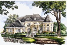 House Plan Design - European Exterior - Front Elevation Plan #952-272