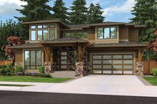 House Plan Design - Contemporary Exterior - Front Elevation Plan #132-564