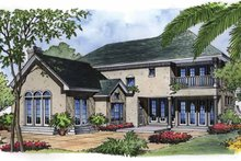 Mediterranean Exterior - Rear Elevation Plan #417-500