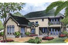 Architectural House Design - Mediterranean Exterior - Rear Elevation Plan #417-500
