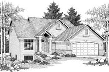 Home Plan - Traditional Exterior - Front Elevation Plan #70-604