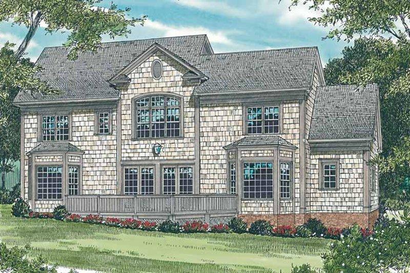 Victorian Exterior - Rear Elevation Plan #453-174 - Houseplans.com