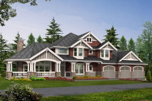 Craftsman Exterior - Front Elevation Plan #132-165