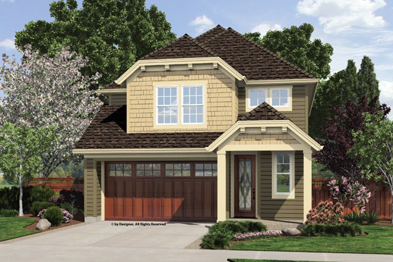 Architectural House Design - Craftsman Exterior - Front Elevation Plan #48-907