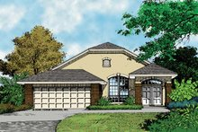 House Plan Design - Mediterranean Exterior - Front Elevation Plan #417-728