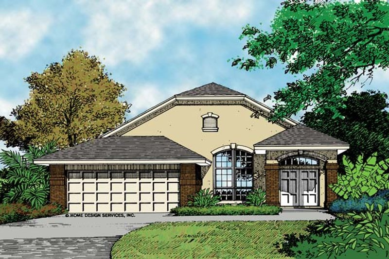 Mediterranean Exterior - Front Elevation Plan #417-728