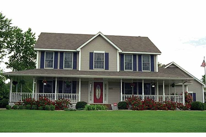 Country Exterior - Front Elevation Plan #51-732 - Houseplans.com