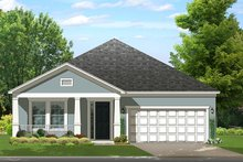 Colonial Exterior - Front Elevation Plan #1058-142
