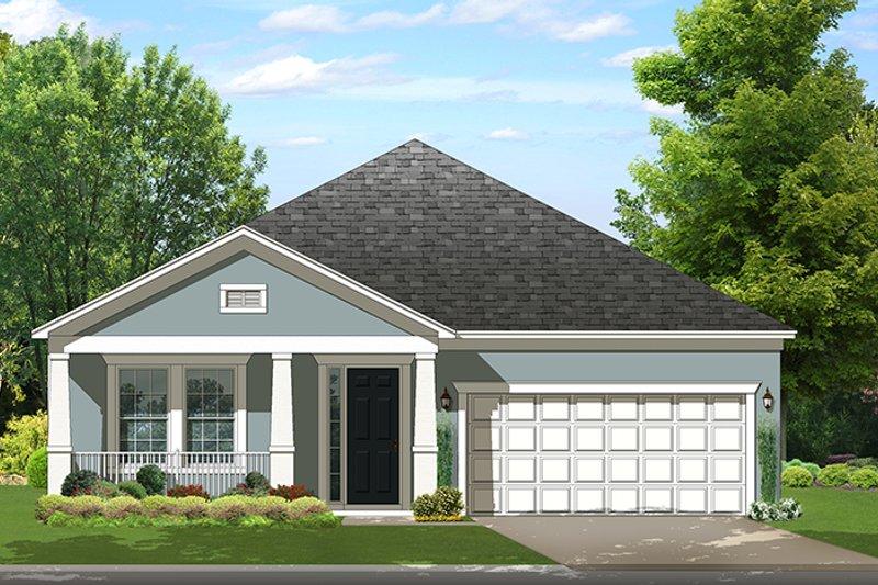 Colonial Exterior - Front Elevation Plan #1058-142 - Houseplans.com